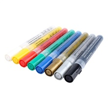 8 Colors Bright Colorful Waterproof Metallic Manga Acrylic Painter Marker Art Markers Pen Permanent Paint Pens for DIY Drawing стоимость