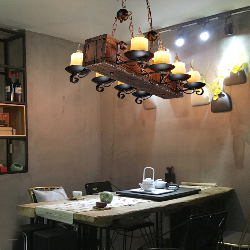 Loft Nordic American Chandelier 6/8 Heads Retro Vintage Lamp E14 Industrial Lighting Suspension Luminaire 5