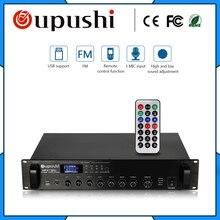 OUPUSHI MP-2150U 150 w display LED Pequeno mini amplificador com USB cartão SD Mp3 e amplificador FM