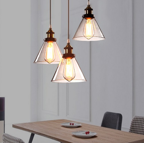 Loft Iron Glass Droplight Edison Pendant Light Industrial Vintage Lighting For Dining Room Bar Hanging Lamp Lamparas Colgantes vintage loft industrial edison flower glass ceiling lamp droplight pendant hotel hallway store club cafe beside coffee shop