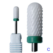 Новое поступление! Керамический сверло для ногтей мельница резак пилка для ногтей электродрель для обработки ногтей биты маникюрная машина устройство аксессуар