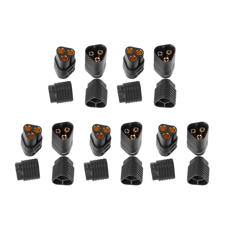 5Pairs MT60 3.5mm 3 Pole Bullet Connector Plug Male & Female For RC ESC To Motor