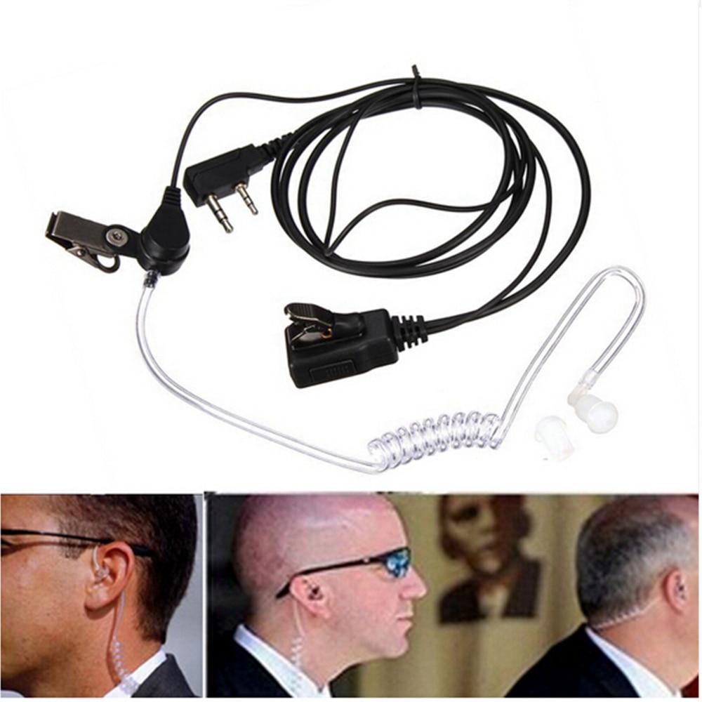 2 Pin Covert Acoustic Air Tube Mic Microphone Earphone Earbud Headset Earpiece Headphone For Kenwood Baofeng Walkie Talkie Radio