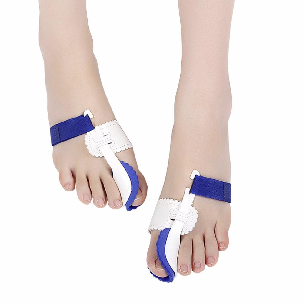 1 par gran separador Corrector de dedos plancha juanete férula del dedo del pie enderezador de alivio del dolor del Hallux Valgus cuidado de los pies