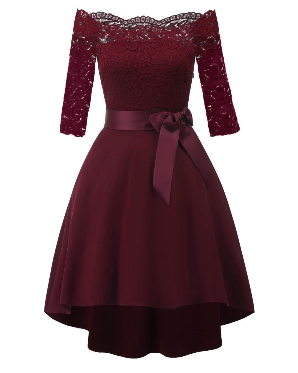Купить женское короткое коктейльное платье кружевное трапециевидное