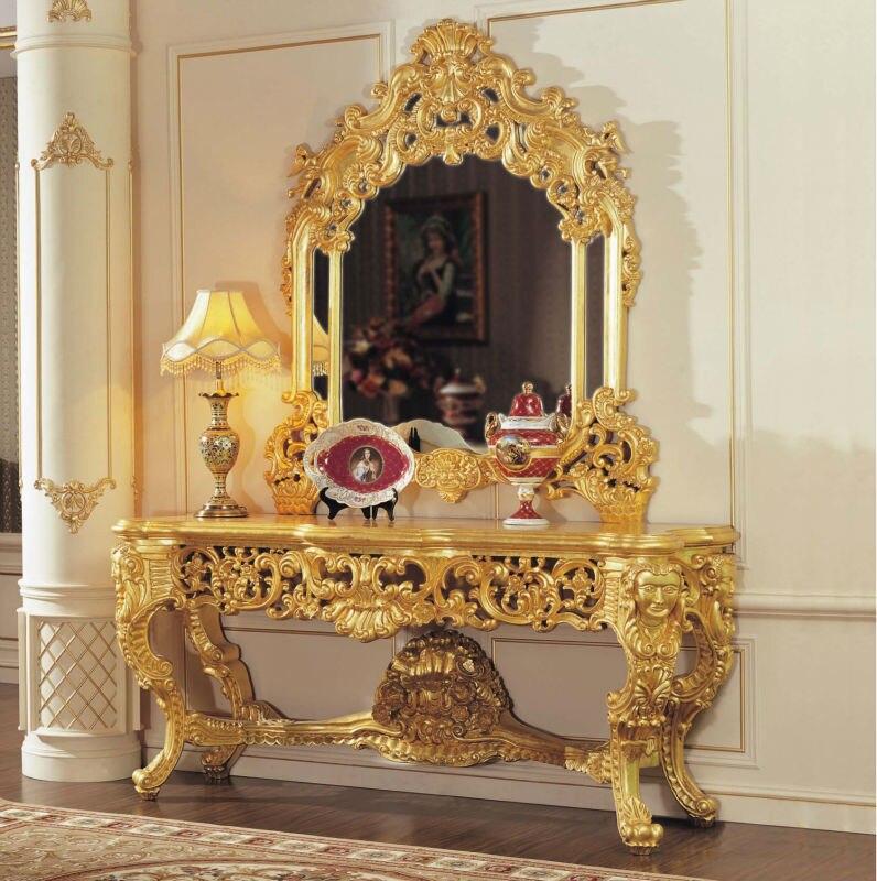 Franse Empire Meubelen Barok Gouden Folie Kraken Verf