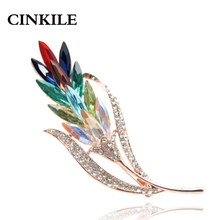 Cinkile Multi Warna Bunga Kristal Bros Rhinestone Bros Pin Fashion Perhiasan Gaun Mantel Korsase Perhiasan Bros Hadiah(China)
