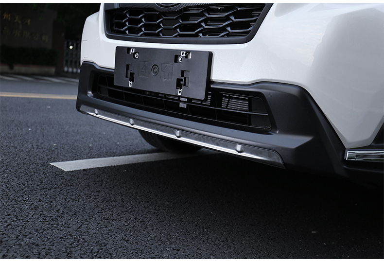 304 Stainless Steel Front Bumper Skid Protector Guard Plate Cover Trims 1pc Car Accessories For SUBARU XV GT3 GT7 2017 2018 in Chromium Styling from Automobiles Motorcycles