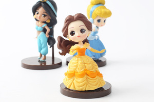 Image 5 - 8 Stks/partij Q Posket Prinsessen Figuur Speelgoed Poppen Sneeuwwitje Belle Mermaid Pvc Figuren Speelgoed