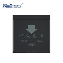 Wallpad Hotel Card Switch Insert Power Supply Key Switch Function Key For Module only 55*55mm 13 56mhz hotel guest room card hotel card key energy saving switch for hotel saving power delay off time
