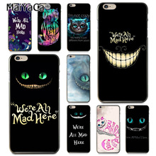 MaiYaCa Alice in wonderland cheshire cat for Apple iPhone 8 7 6 6S Plus X 5  5S SE f1a5fb49c52f