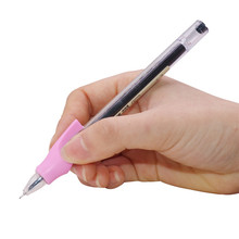 Pen-Holder Office-Supplies Silicone Gel-Pen Auxiliary-Handle Posture-Correction Long-Tail