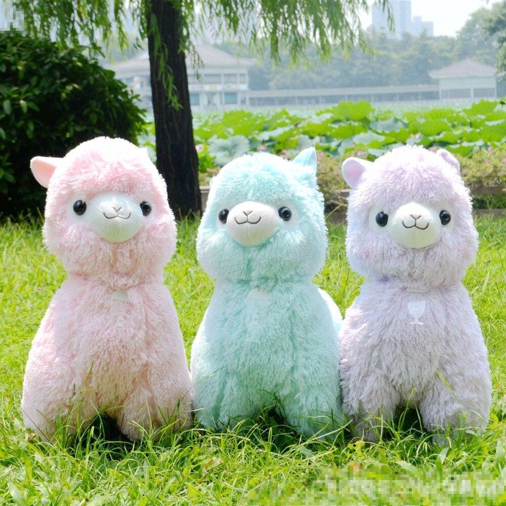 Tamaño grande 45 cm japonés Alpacasso juguetes muñeca Kawaii Alpaca ovejas juguetes de peluche gigante peluche juguete lindo regalos de navidad