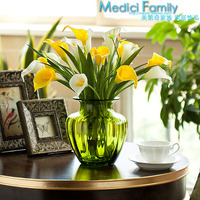 935 artificial flower fresh dining table artificial flower silk flower PU mini calla small relief vase set