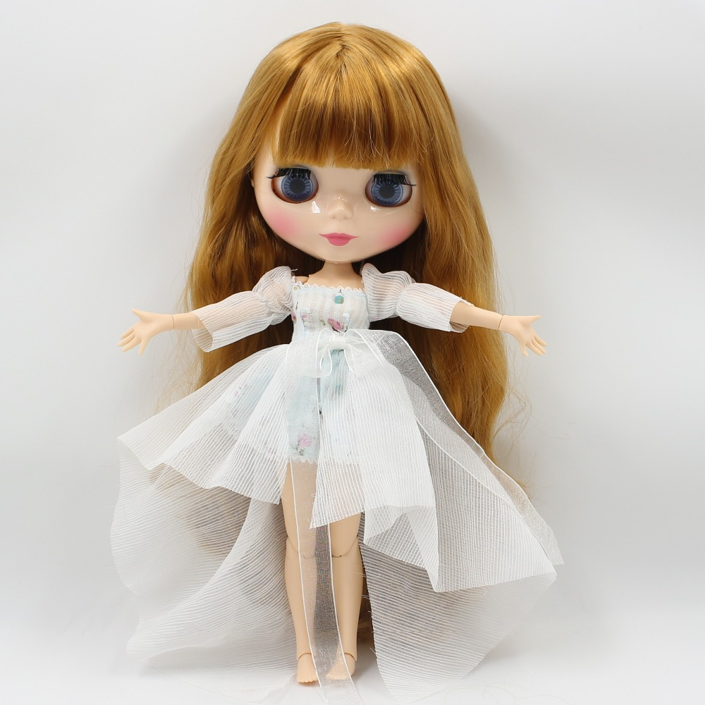 Neo Blythe Doll with Blonde Hair, Natural Skin, Shiny Face & Jointed Body 1