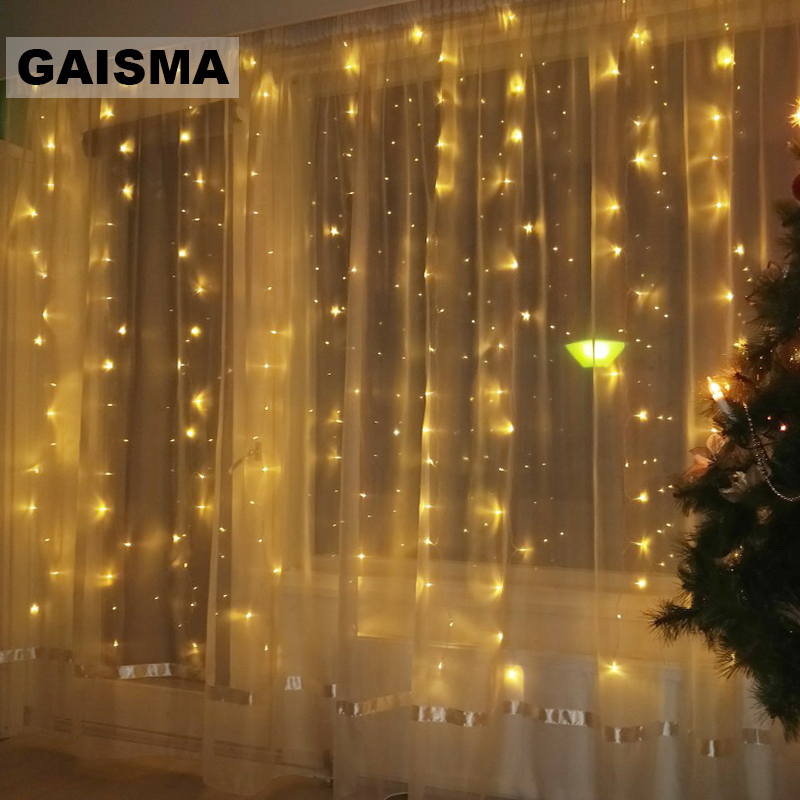 4x3/8x3/10x3M Garland LED Curtain Lights Christmas Decorations Wedding Lights String For Party Fairy Holiday Lighting Outdoor