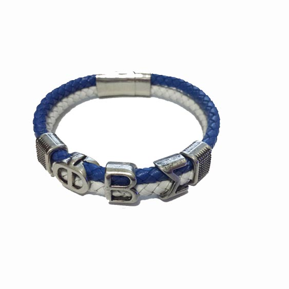 Customized Alpha Style Jewelry Gift Phi Beta Sigma Divine Fraternity Pbs Leather Magnetic Bracelet Bangle In Cuff Bracelets From Accessories On