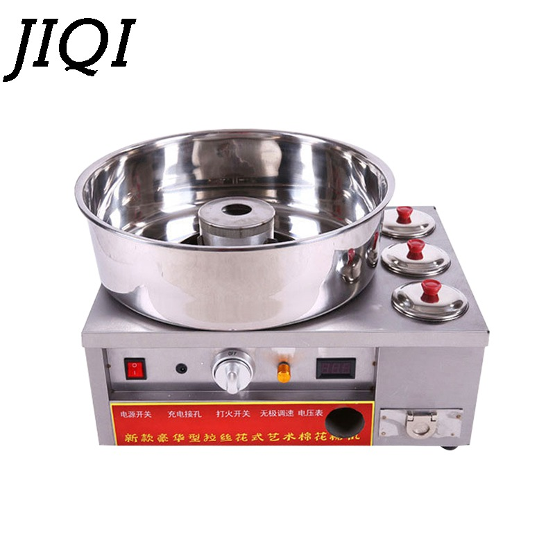 JIQI Luxury fancy Commercial gas cotton candy maker candy DIY sugar type Gas-made self-propelled spreader Cotton Candy machine new luxury cotton candy machine commercial gas electric cotton candy machine fancy drawing cotton candy
