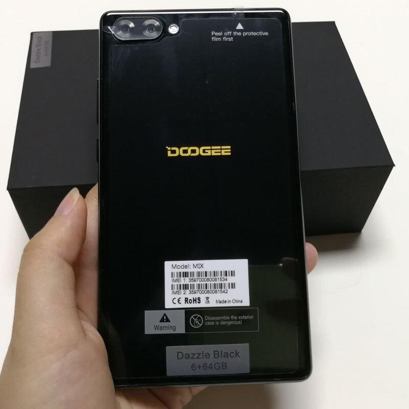 DOOGEE Mix 5,5 дюймов смартфон 6 ГБ Оперативная память 64 ГБ Встроенная память 16MP + 8MP Android 7,0 Otca Core MT6750 двойной SIM отпечатков пальцев 4 г Lte мобильный те...