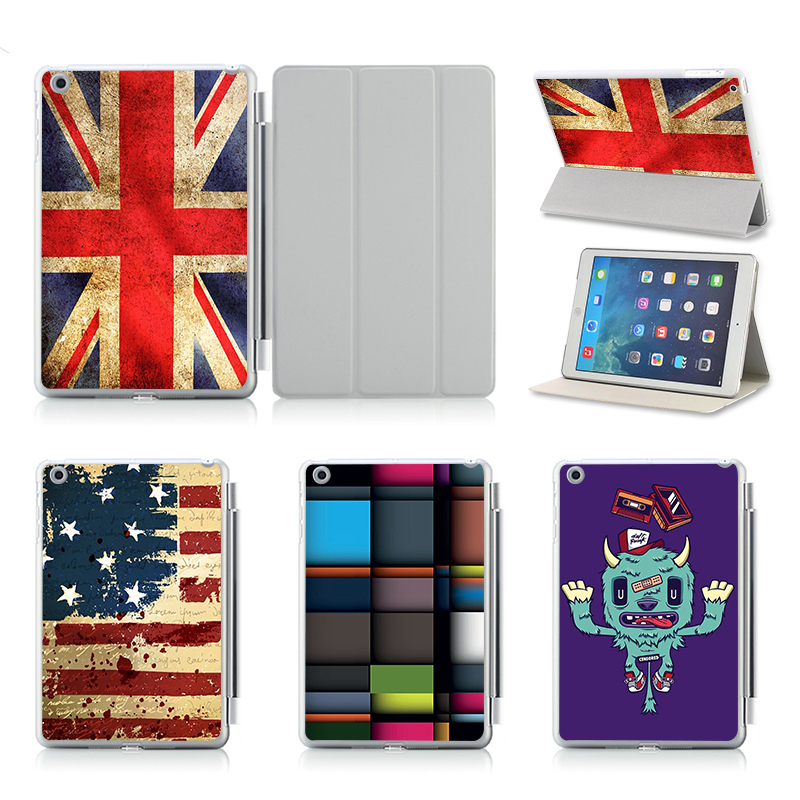 UK US Flag Design Folio PU Leather Case Cover For Apple IPad Air/ 2 Stand Smart Case Cover Protective Skin Tablet Accessories