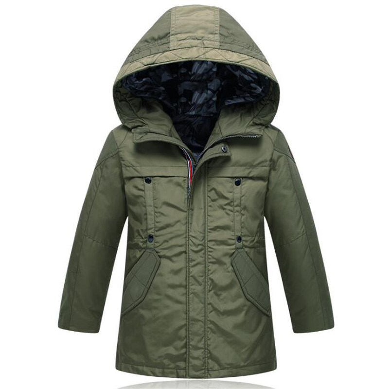 Down Jacket Coat Wear on both sides Winter Warm White Duck Down Stand Collar Hooded Kids Boys Outwear 15