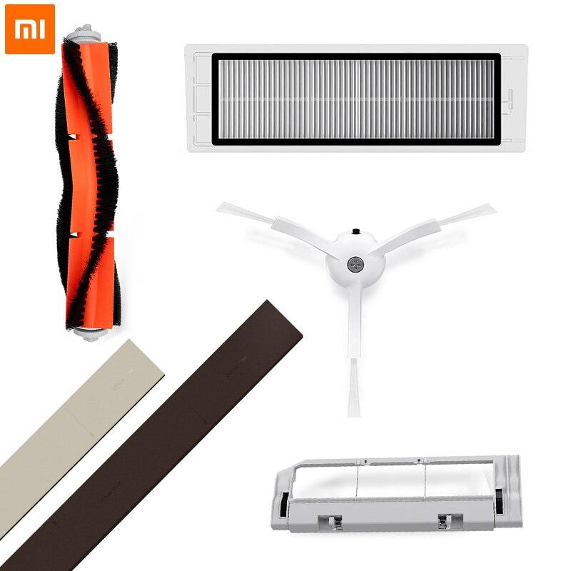 Original Xiaomi Robot parte Paquete de filtro HEPA cepillo principal herramienta de limpieza cepillo lateral para Mijia Roborock Aspiradora