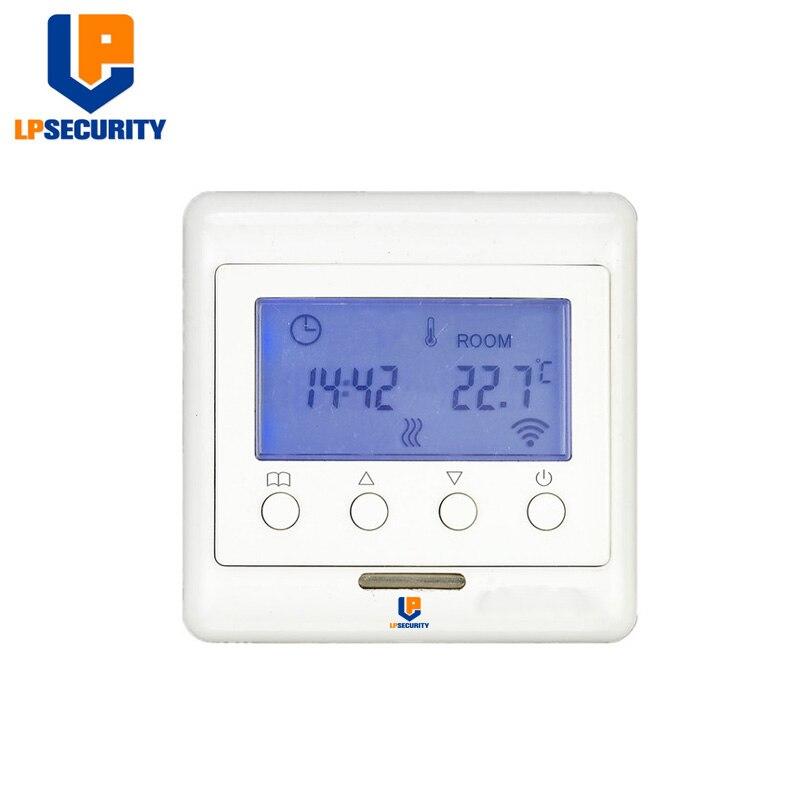 Z-wave Plus Thermostat contrôle de chauffage par le sol système de chauffage électrique sans fil travail Fibaro et Vera domotique intelligente