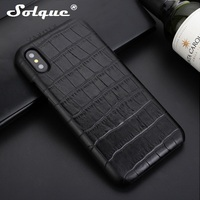 Solque Ultra Slim Case For IPhone X Real Genuine Leather Case For IPhoneX Luxury Cute 3D