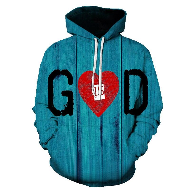 LOVE IS GOD Sweatshirt Men Women Casual Pullover Hip Hop Hoody