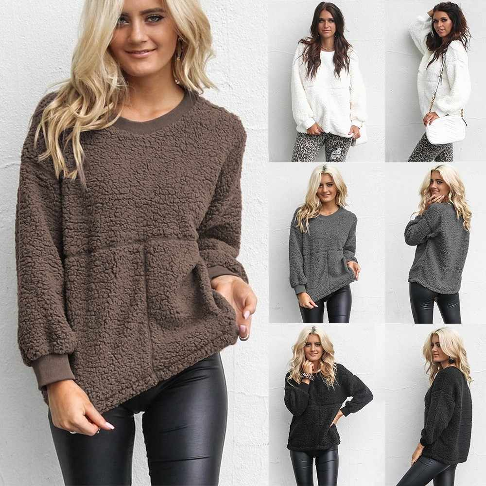 ZOGAA Womens Sweaters Fashion 2018 Casual Warm Clothes Autumn Winter  Sweatshirts Sweater Round Neck Long Sleeve f1ba9a611d4f