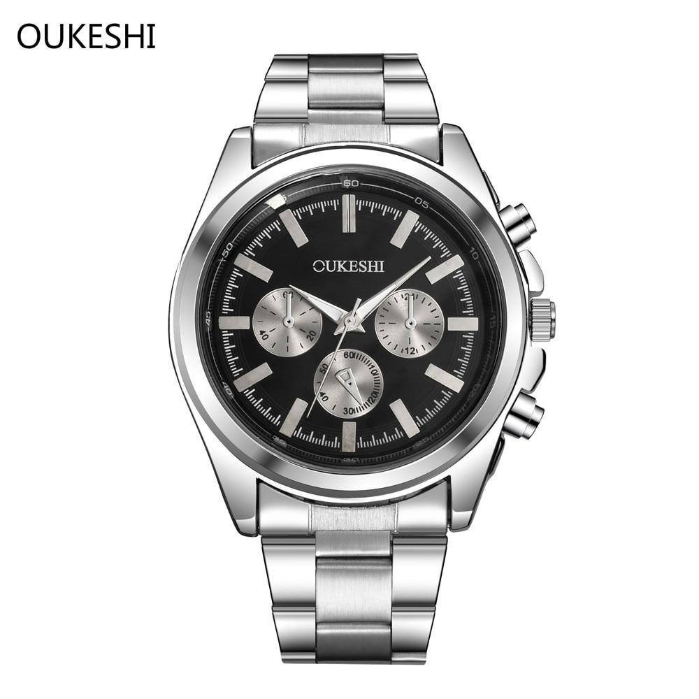 2017 TOP Brand Luxury OUKESHI Quartz Men Watch Military Wristwatch Stainless Steel Waterproof Business Watches Relogio masculino разъем jack neutrik np3x b стерео прямой
