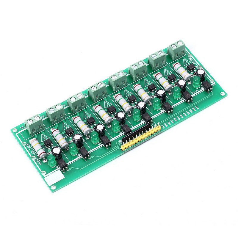 AC 220V MCU TTL Level 8-Channel Optocoupler Isolation Testing Board Isolated Detection Tester Module PLC Processors 8 Channel