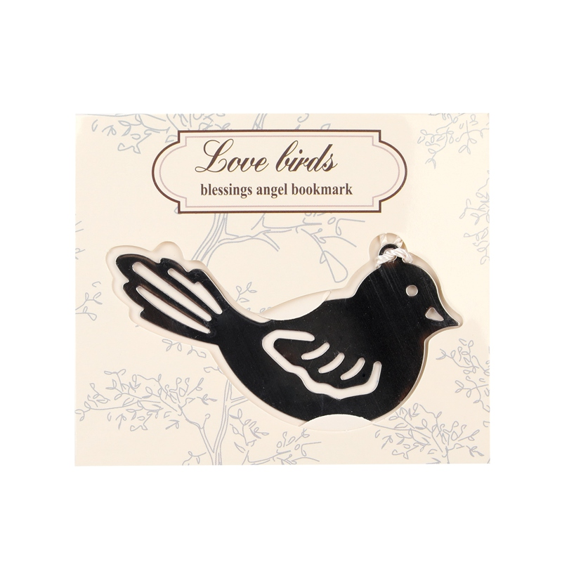 1Pcs Bird Shape Book Markers Birds With Tassels Metal Bookmark Stationery For Kids Gift(China)