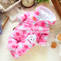 Free shipping Retail nwe 2016 autumn Winter clothes baby romper baby girl cotton rompers kids cute jumpsuit overalls