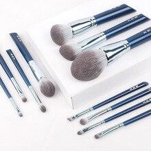Moda wysokiej jakości twarzy Mix pędzel do makijażu oczu zestaw 11 opakowanie cień do powiek Blush fundacja pędzel do brwi profesjonalne narzędzia kosmetyczne