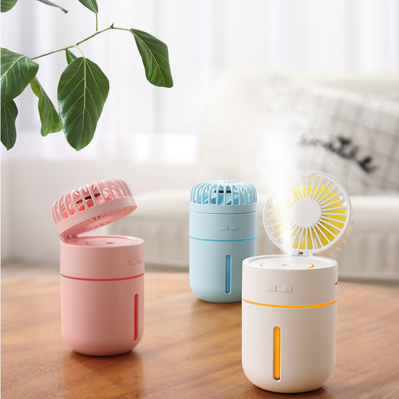 Portable Air Humidifier Mini USB Fan desk air conditioner humidification cooling Rechargeable Adjustable Fan LED LightPortable Air Humidifier Mini USB Fan desk air conditioner humidification cooling Rechargeable Adjustable Fan LED Light