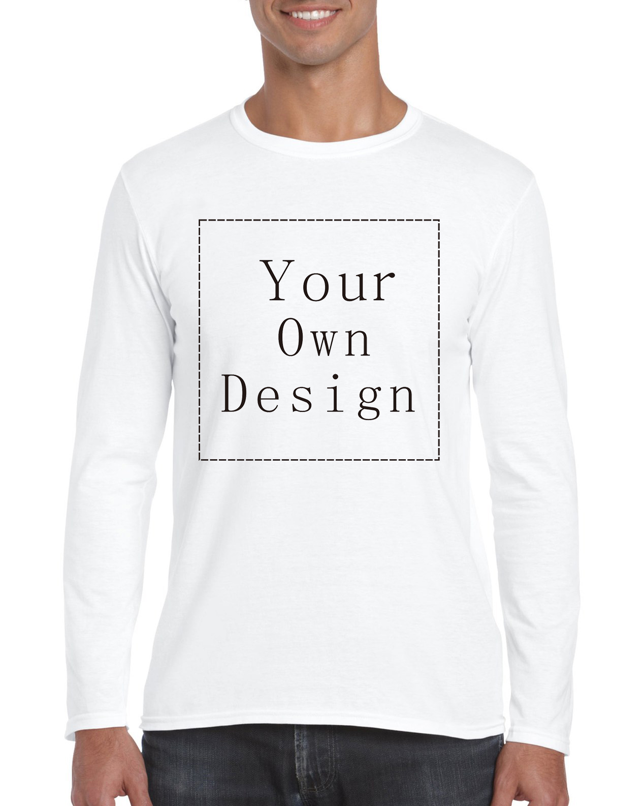 Design your own t-shirt long sleeve - Customized Men S Long T Shirt Print Your Own Design High Quality Fast Ship China