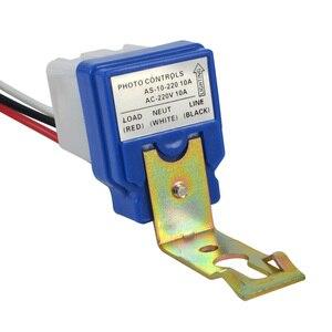 Image 3 - Kebidumei חם תא פוטואלקטרי רחוב אור Photoswitch חיישן AC DC 220 V 10A אוטומטי על Off חיישן מתג לבן וכחול