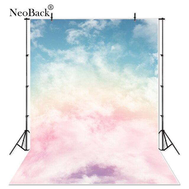 NeoBack Vinyl Fantasy Sky Pastel Pink Purple Cloud Photography Backdrops Photo Backgrounds Newborn Child Wedding studio props