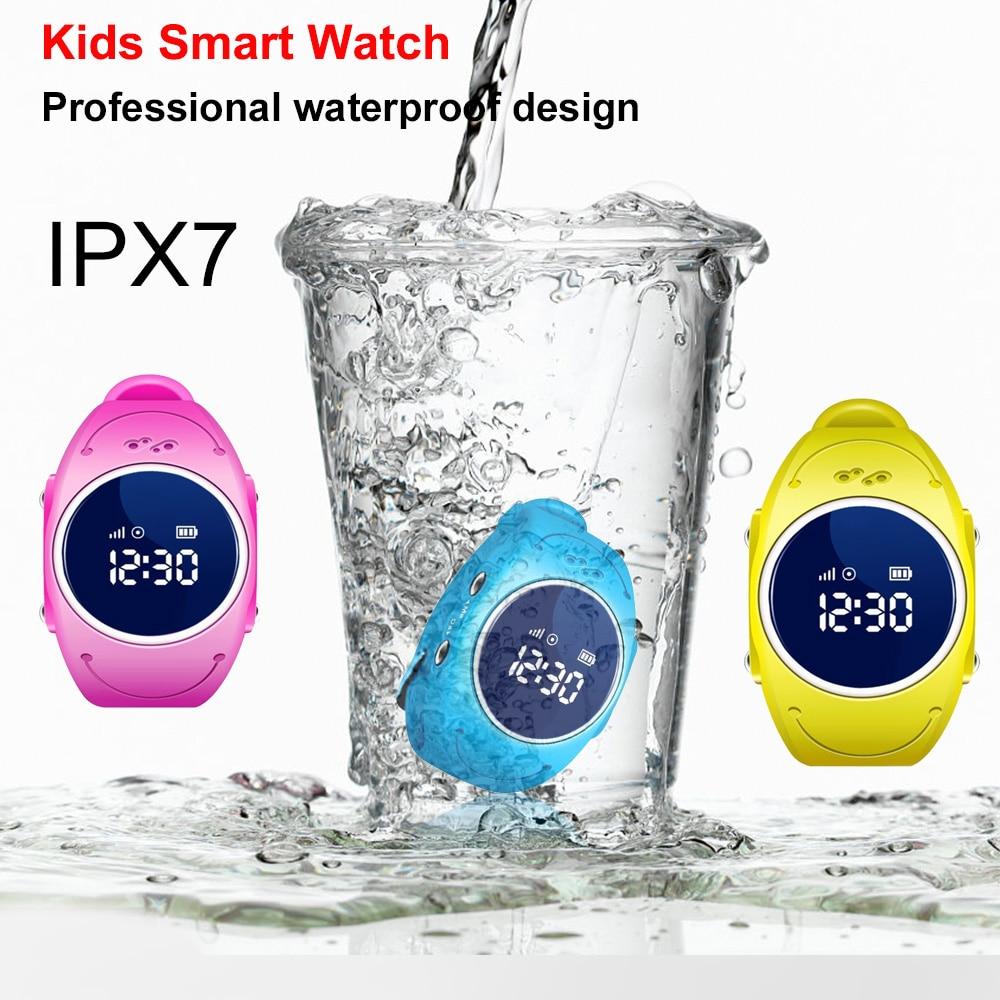 2018 nouveau enfant sûr GPS montre intelligente localisateur Tracker Anti perdu moniteur belle montre-bracelet Support Micro carte SIM pour les enfants
