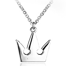 New Kingdom Hearts Sora Crown Necklace Metal Pendant Charm Halloween Cosplay Props Hot Costume Jewelry Gift