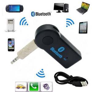 Handfree Car Bluetooth Music Receiver Universal 3.5mm Streaming A2DP Wireless Auto AUX Audio Adapter Connector Mic For Phone MP3