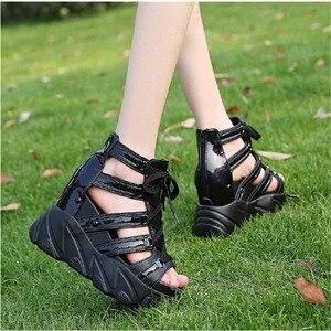 Image 3 - הו תרומה קומפורטי נעלי נשים מאפין תחתון טריזי עקבים קיץ נעלי נשי לנשימה סנדלי נשים אופנה פלטפורמת סנדלים