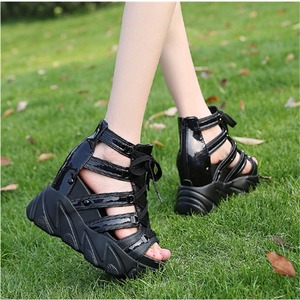 Image 3 - Ho Heave Comforty Shoes Women Muffin Bottom Wedges Heels Summer Shoes Female Breathable Sandals Women Fashion Platform Sandals
