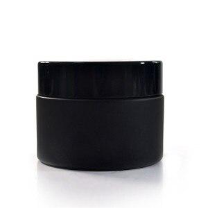 120pcs 50g matte black glass jar with bl
