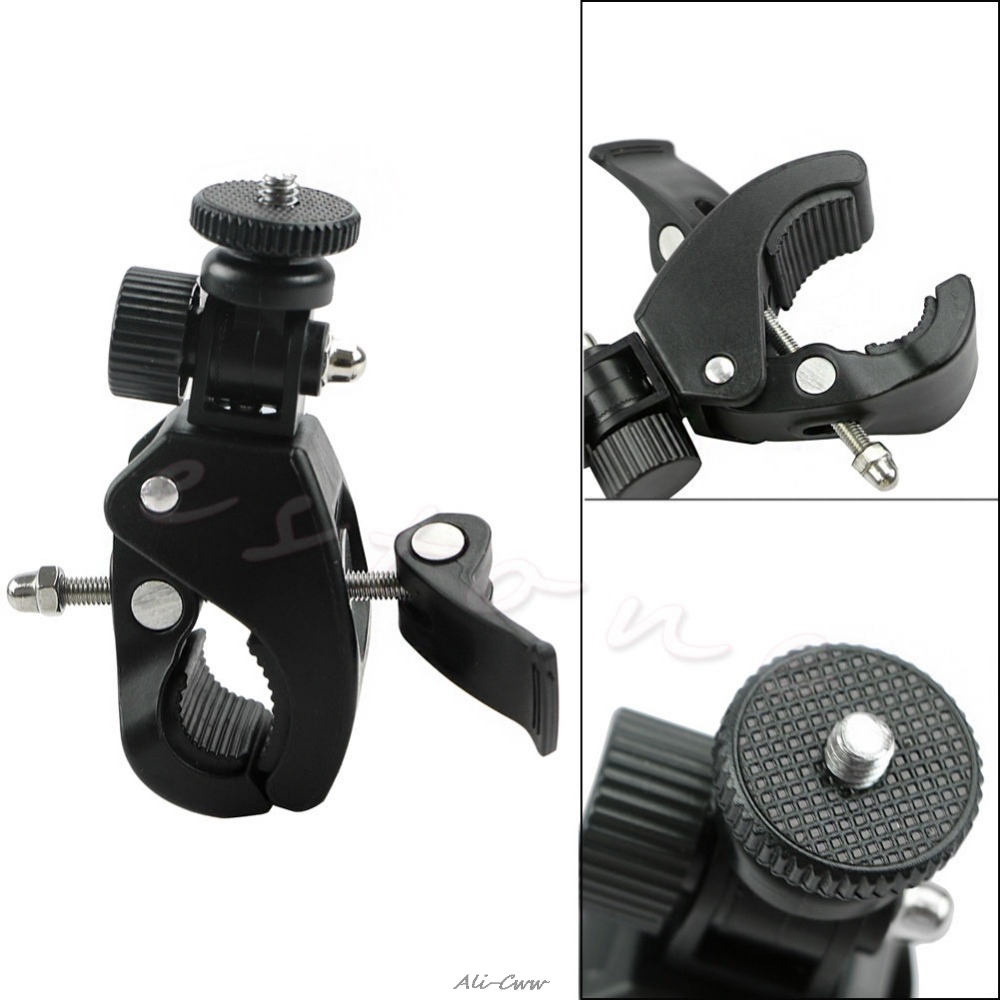 1Pc Bicycle Bike Handlebar Mount 1/4 Screw Clamp Bracket Tripod For Camera DV