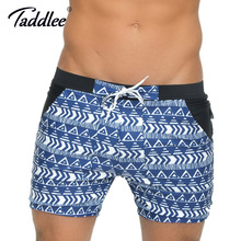 Taddlee Brand Mens Swimwear Swimming Boxer Trunks Big Size XXL Traditional Basic High Rise Swimsuits Board Surf Swim Shorts New