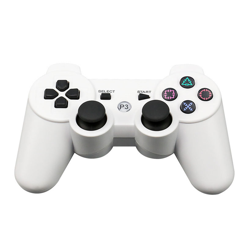 For Sony Playstation3 szKosTon 11 Colors 2.4GHz Wireless Bluetooth Game Controller For PS3 Controller Joystick Gamepad Top Sale white