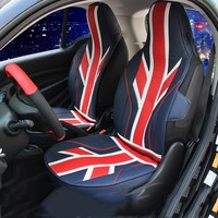 car sport red union jack / checkered seat covers for benz smart 453 2 door 2015 2016 2017 car accessories
