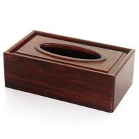 Houten Tissue houder PterocarpuserinaceusPoir Ambila Hout Papier houder Case Tissue Box